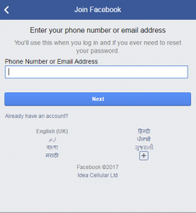 Create facebook multiple accounts with same mobile number