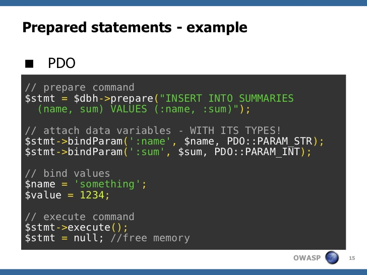 How to bind Values in PDO