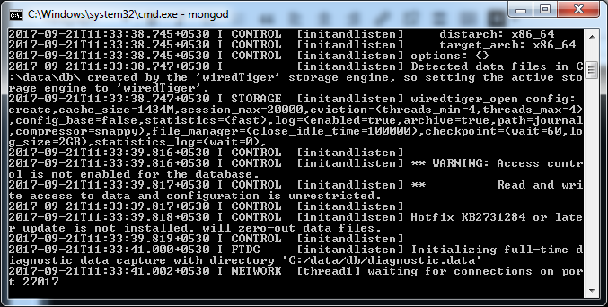 Mongo DB Installation Windows Screen Shot 14