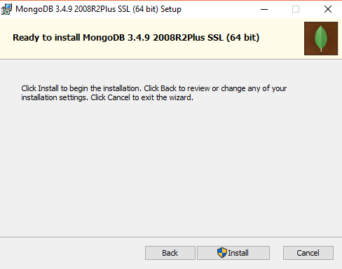 Mongo DB Installation Windows Screen Shot 7