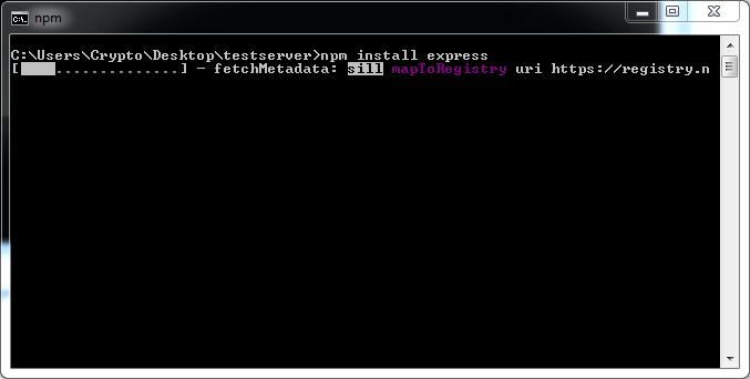 Node.js Express Install Command