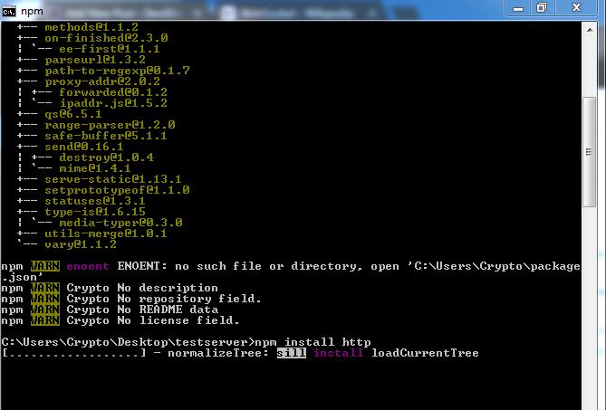 Installing Http in Node.js