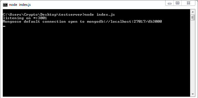 Connect Web Socket Server to Mongo DB using Mongoose Clien