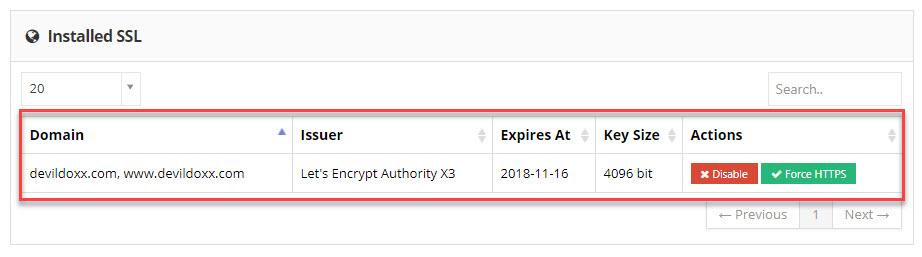Devildoxx Install certificate