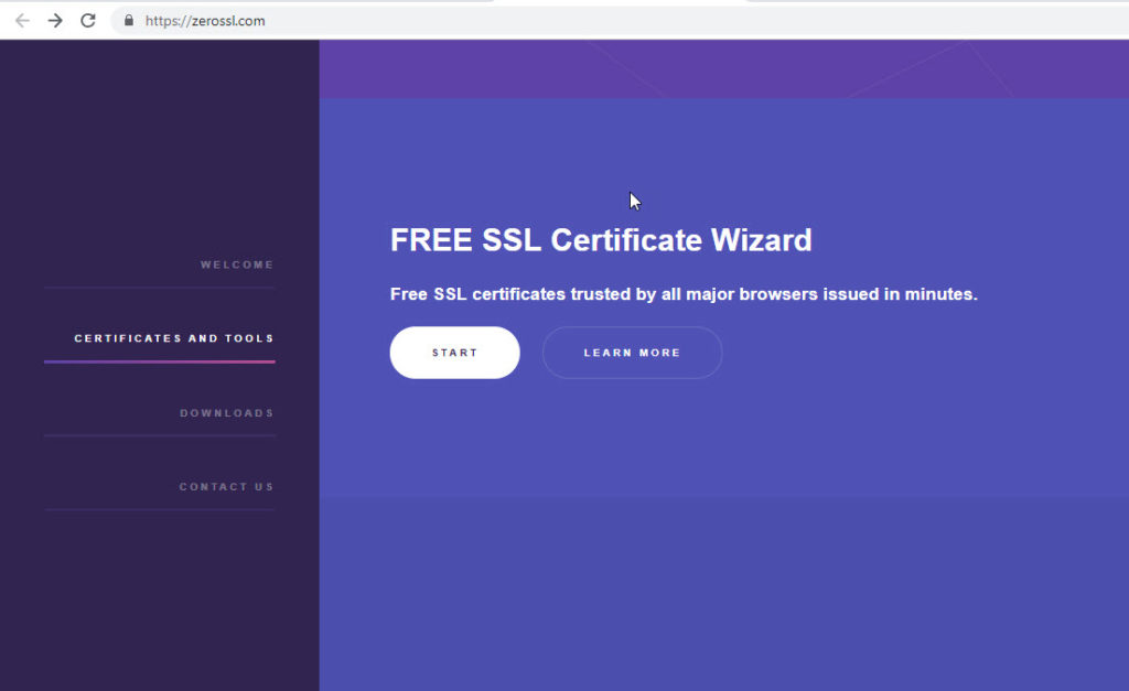 Free SSL Certificate Form