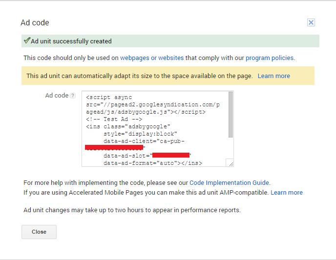 Google Adsense AMP ads