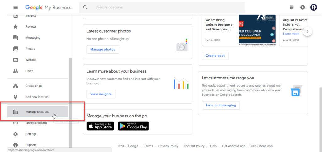 Google Business Verification code