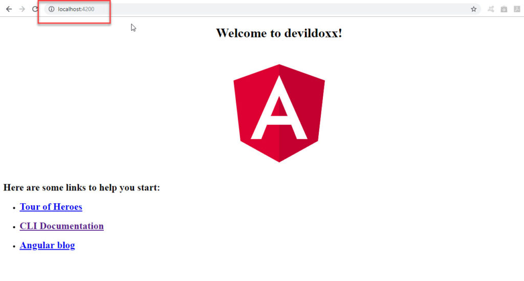 Opening Angular Application