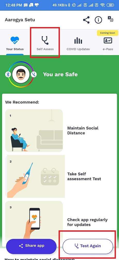 Click for Self Assessment Test