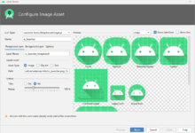Configure Image Asset Screen