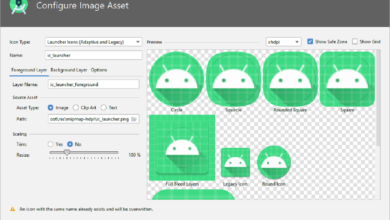 Configure Image Asset Screen