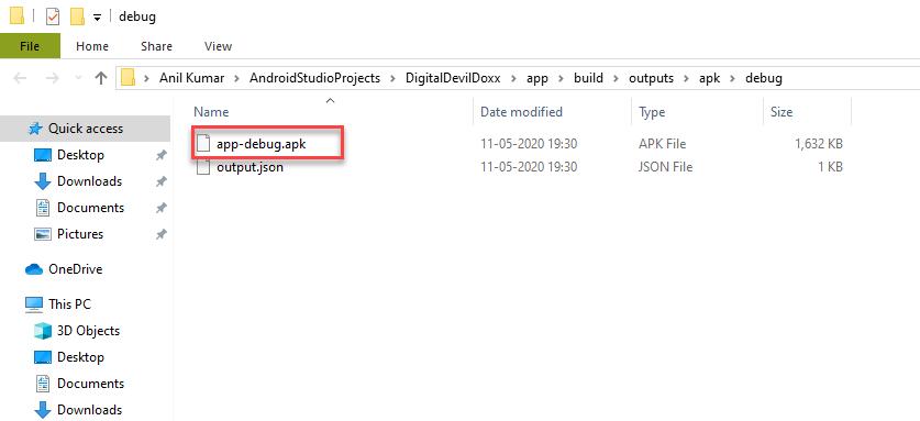File in File Explorer